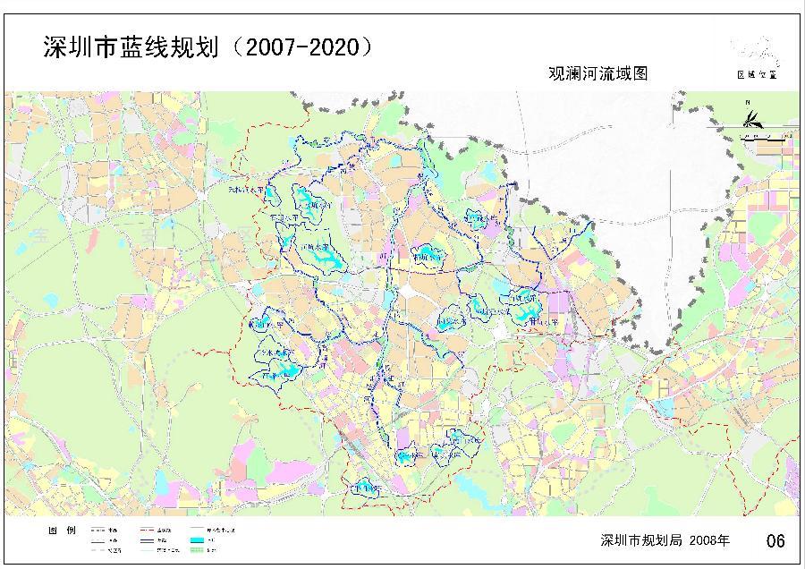 观澜河流域图